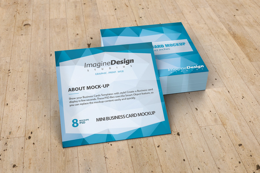 Mini Business Card Mockup on Behance