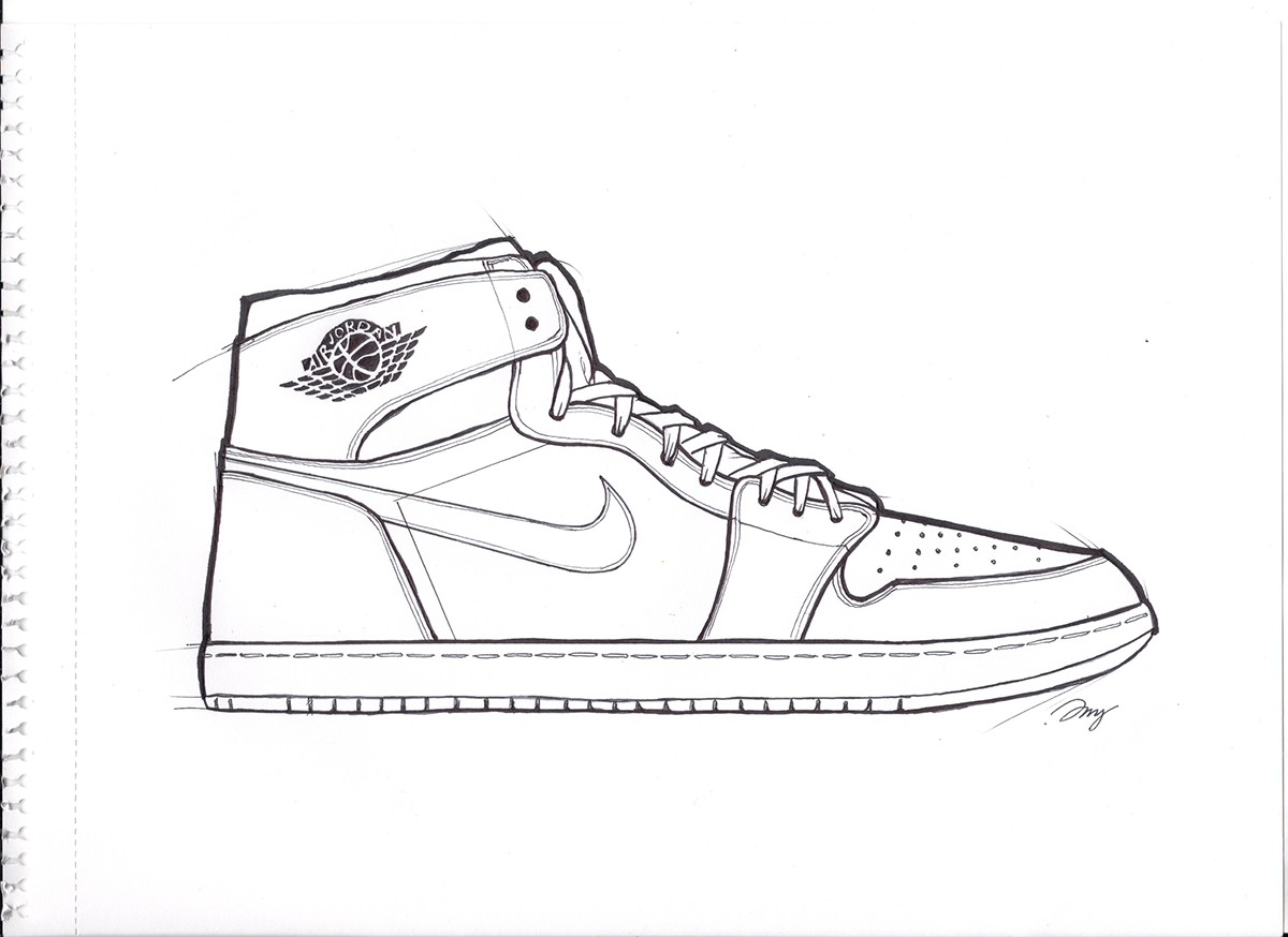 6ef5df761c4 reduced air force one jordan drawing 4a43a fe58d; coupon for air jordan 1  on behance f8231 d8f46