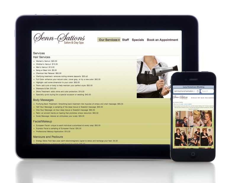 Hair Salon Marketing and Web Design