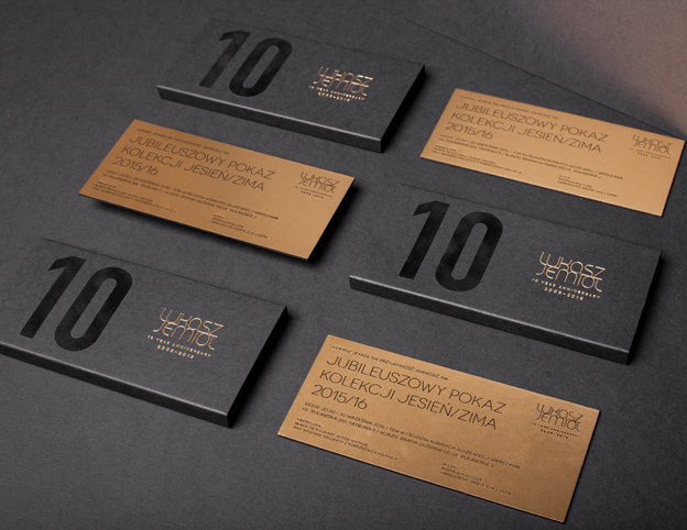 black gold Invitation hotstamping fashionshow box