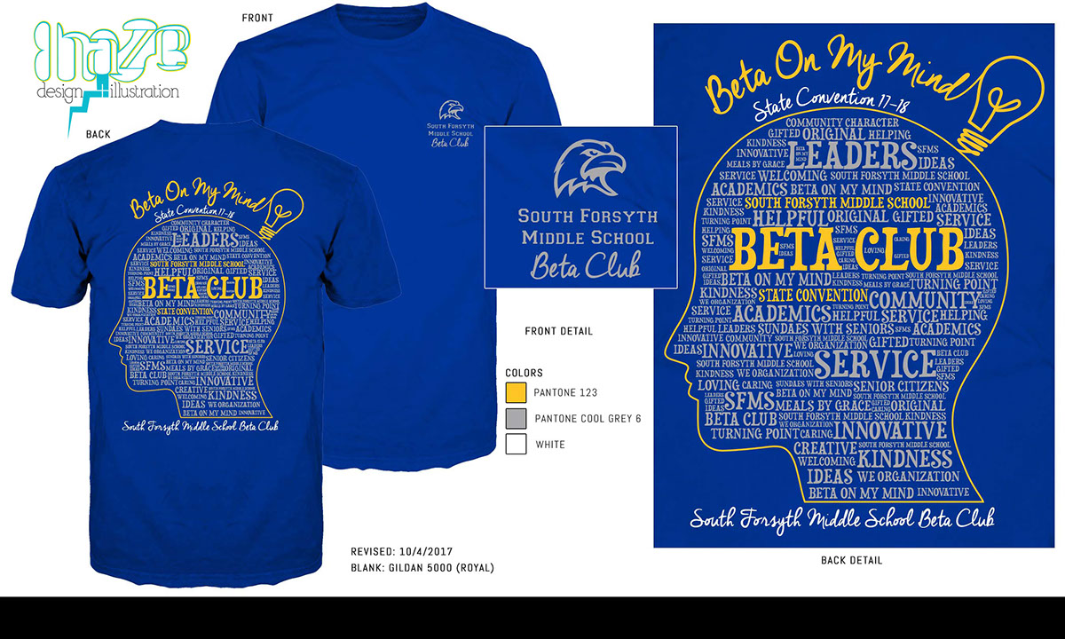 S. Forsyth Middle School Beta Club Tees on Behance