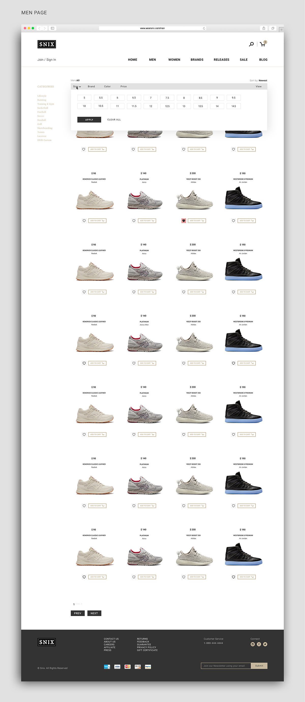 Adobe Portfolio Snix sneakerheads e-commerce