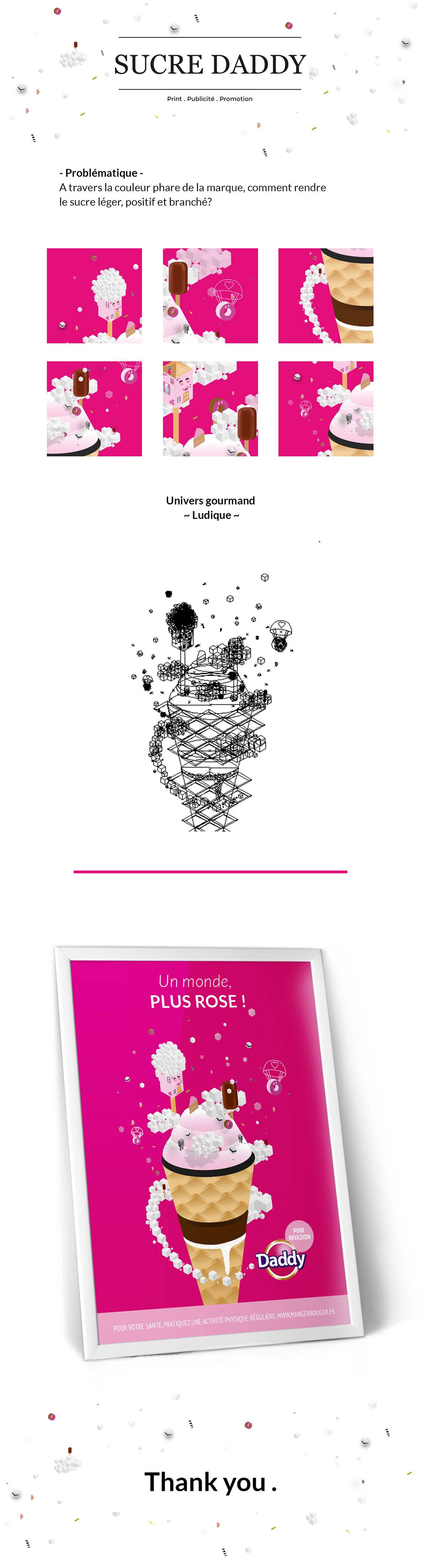 Affiche Sucre Daddy Sucrerie Pixel Art On Behance