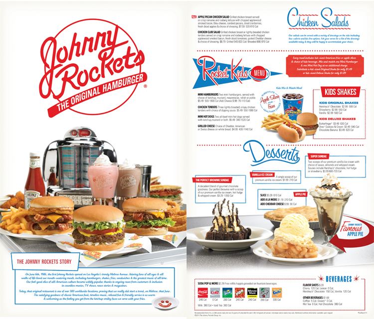 Johnny Rockets Menu Re-Design on Behance