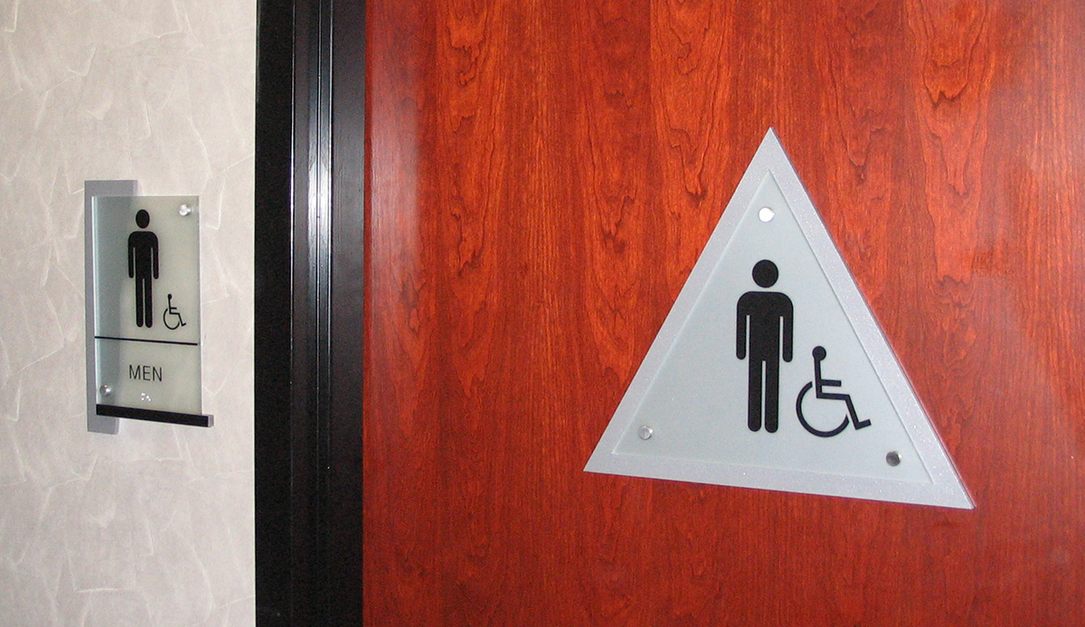Bathroom Signs Circle And Triangle gateway chula vista on behance