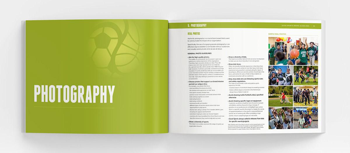 brand guide brand guidelines branding  Good Sports non-profit nonprofit sports