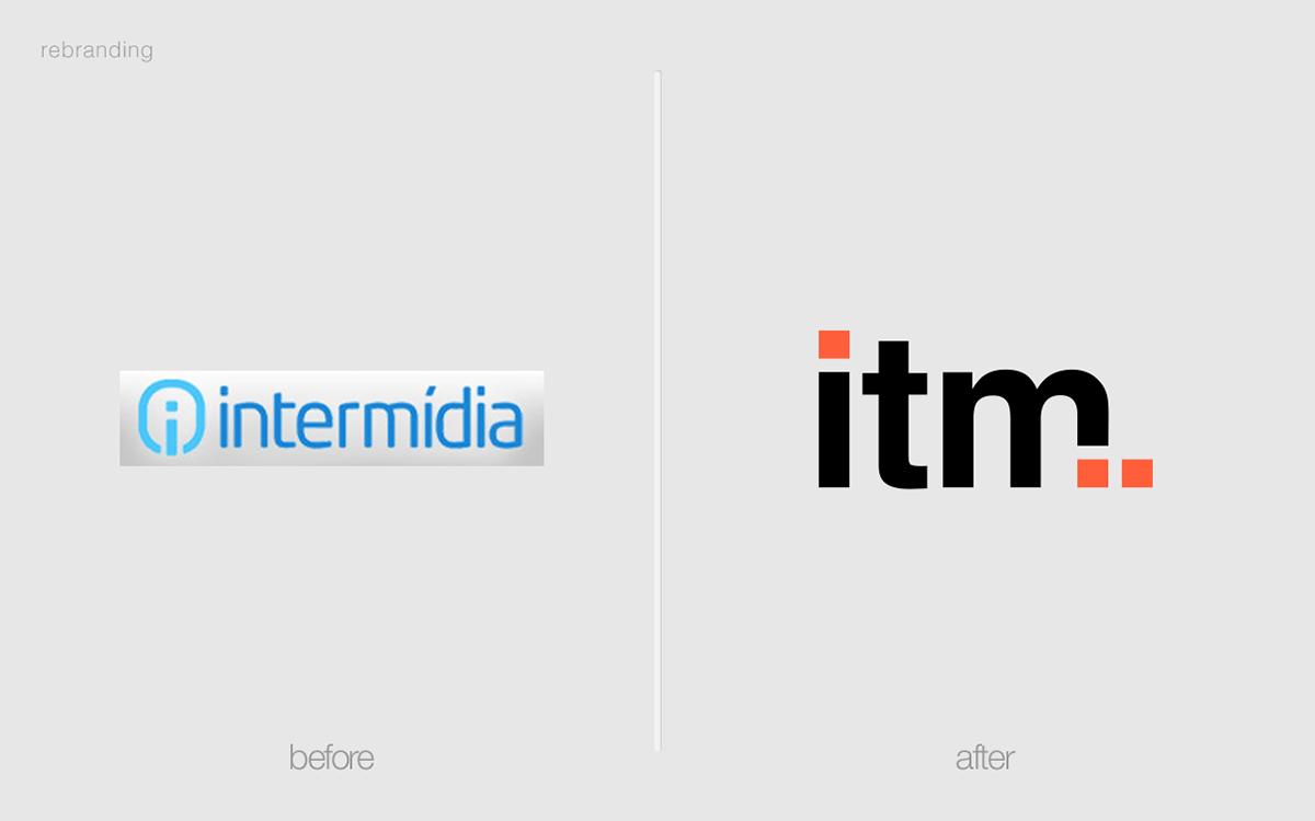 rebranding visual identity branding  design ITM logo