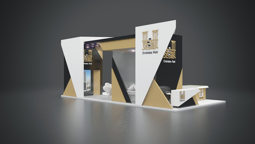 Exhibition Stand Design Abu Dhabi : Emirates reit stand at cityscape abu dhabi on behance