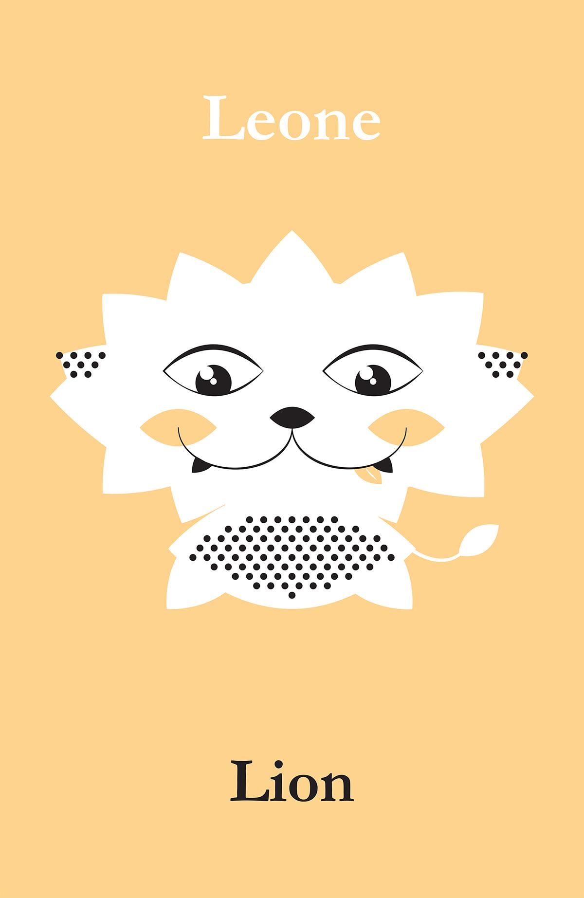 poster animals ILLUSTRATION  kids wallpaper kids room