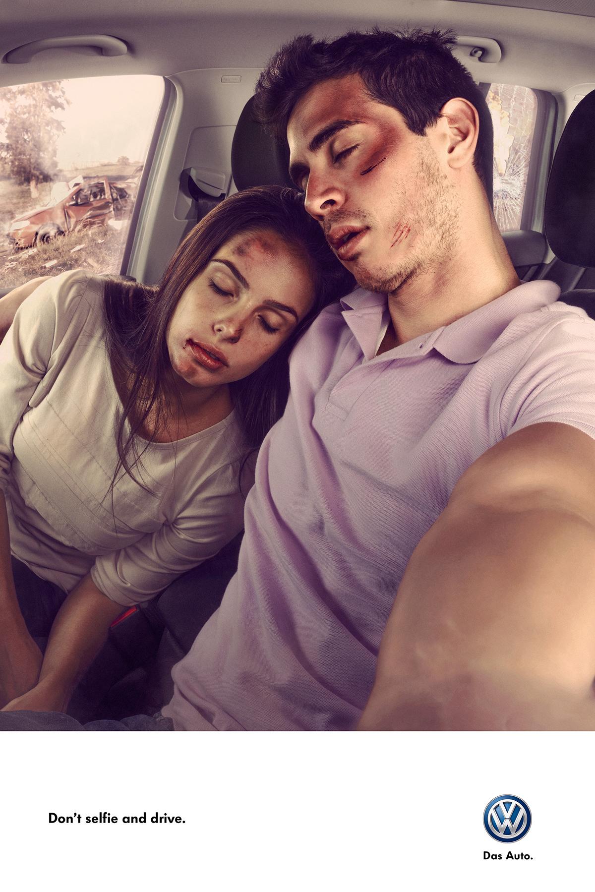 volkswagen friends couple guy accident crash automotive   car selfie traffic