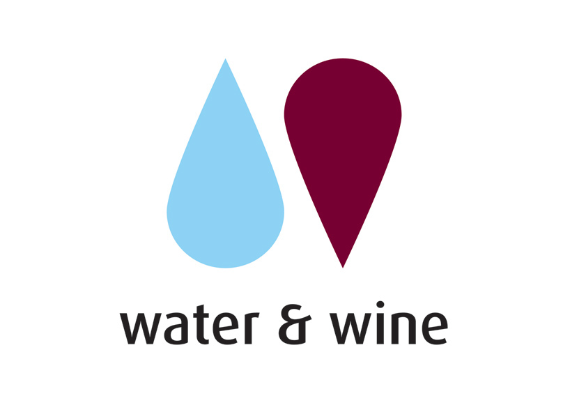 Image result for water & wine logo singapore