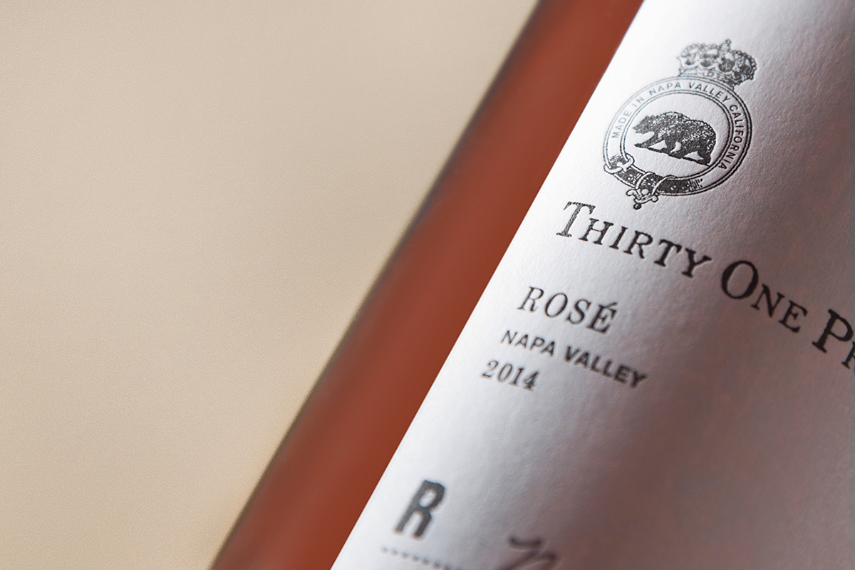 Packaging wine label ILLUSTRATION  seal California napa valley bear sonoma county rose type typography
