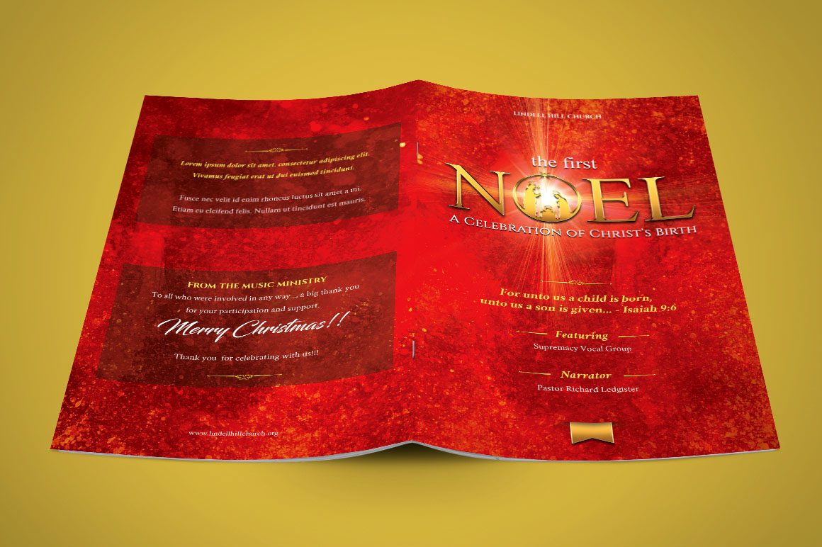 christmas concert program template