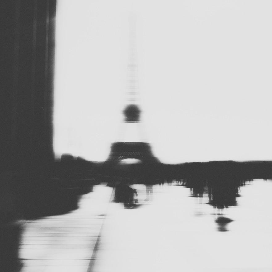 Paris france monochrome carré cauchemar fantômes longue exposition Nikon nuit jour gens monuments Tour Eiffel La Seine