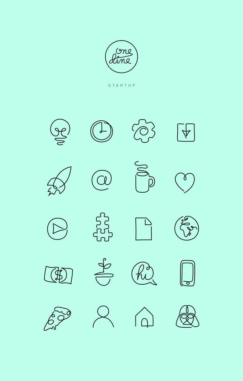 Line Design Art Psd : One line startup icons on behance