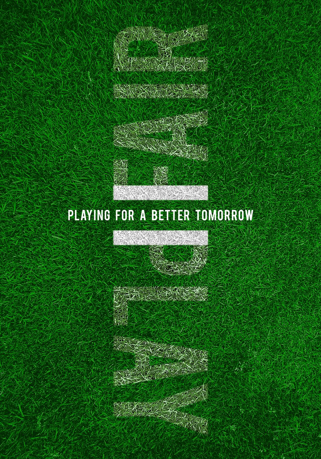 football Fair Play Ecuador poster graphic design