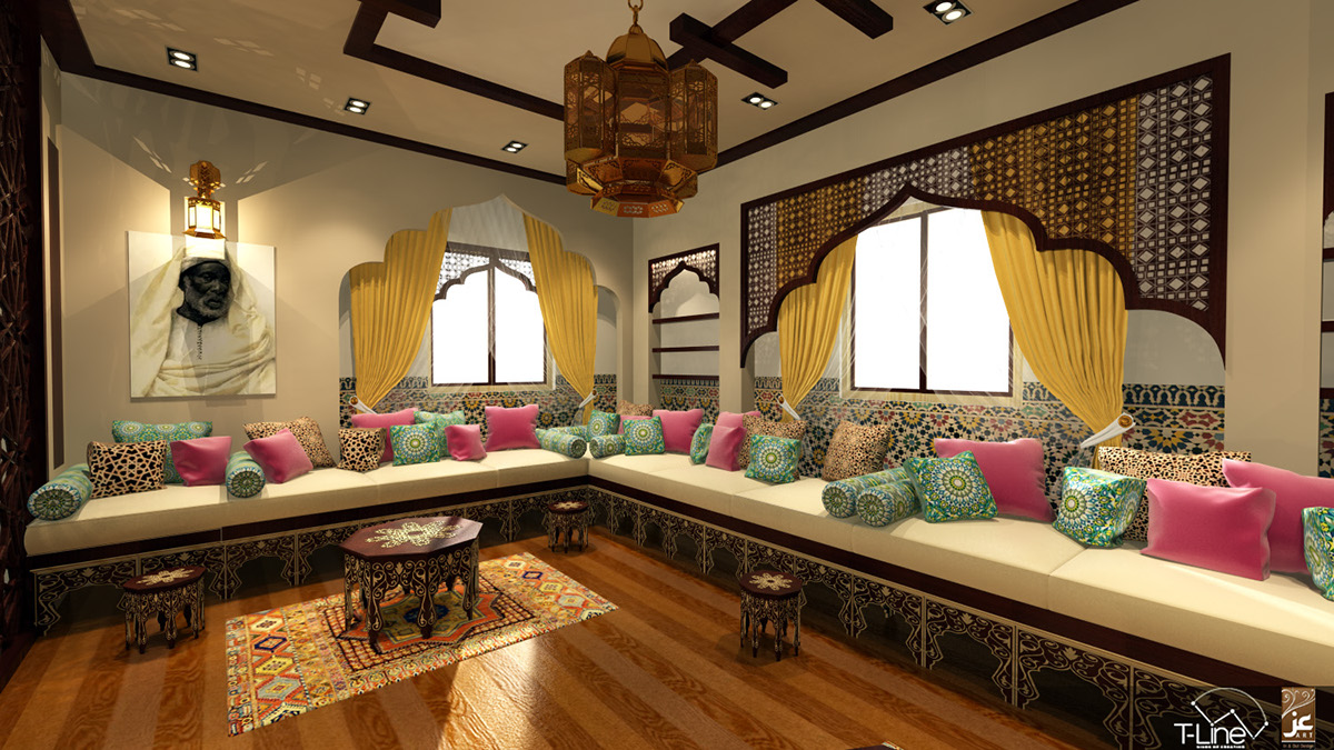 amusing moroccan style living room | Living Room-Moroccan Style-Cairo on Behance