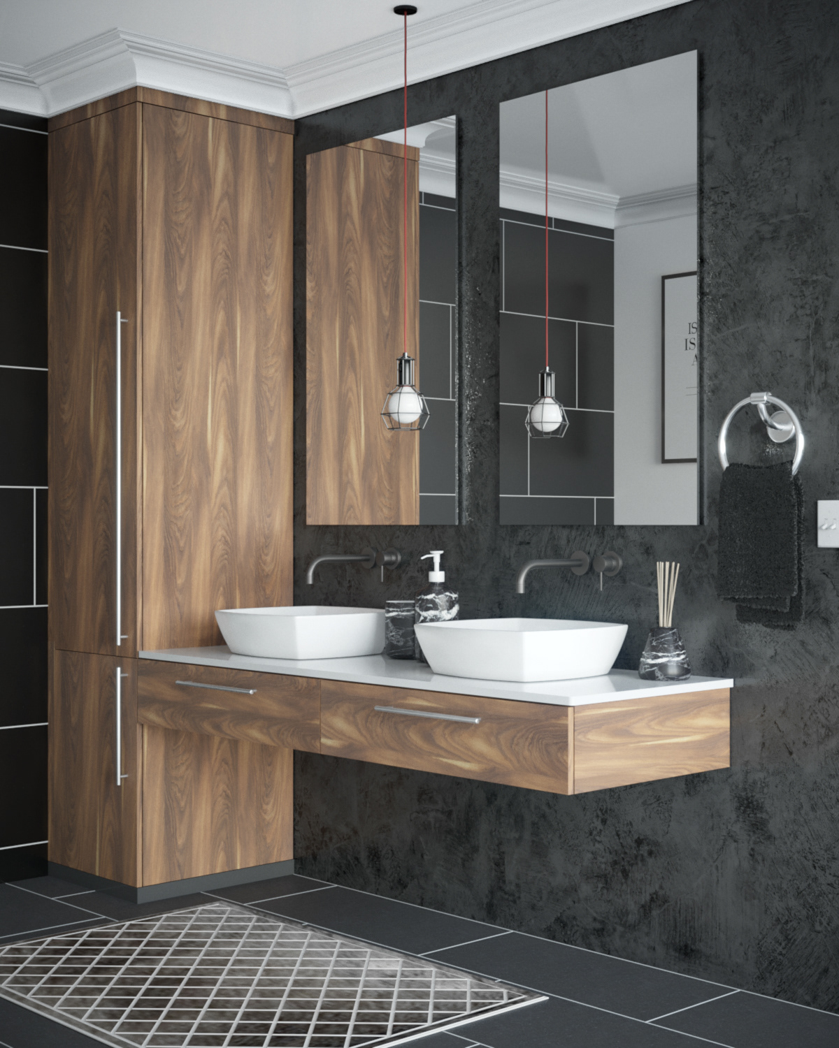 Modern Bathroom Design On Behance
