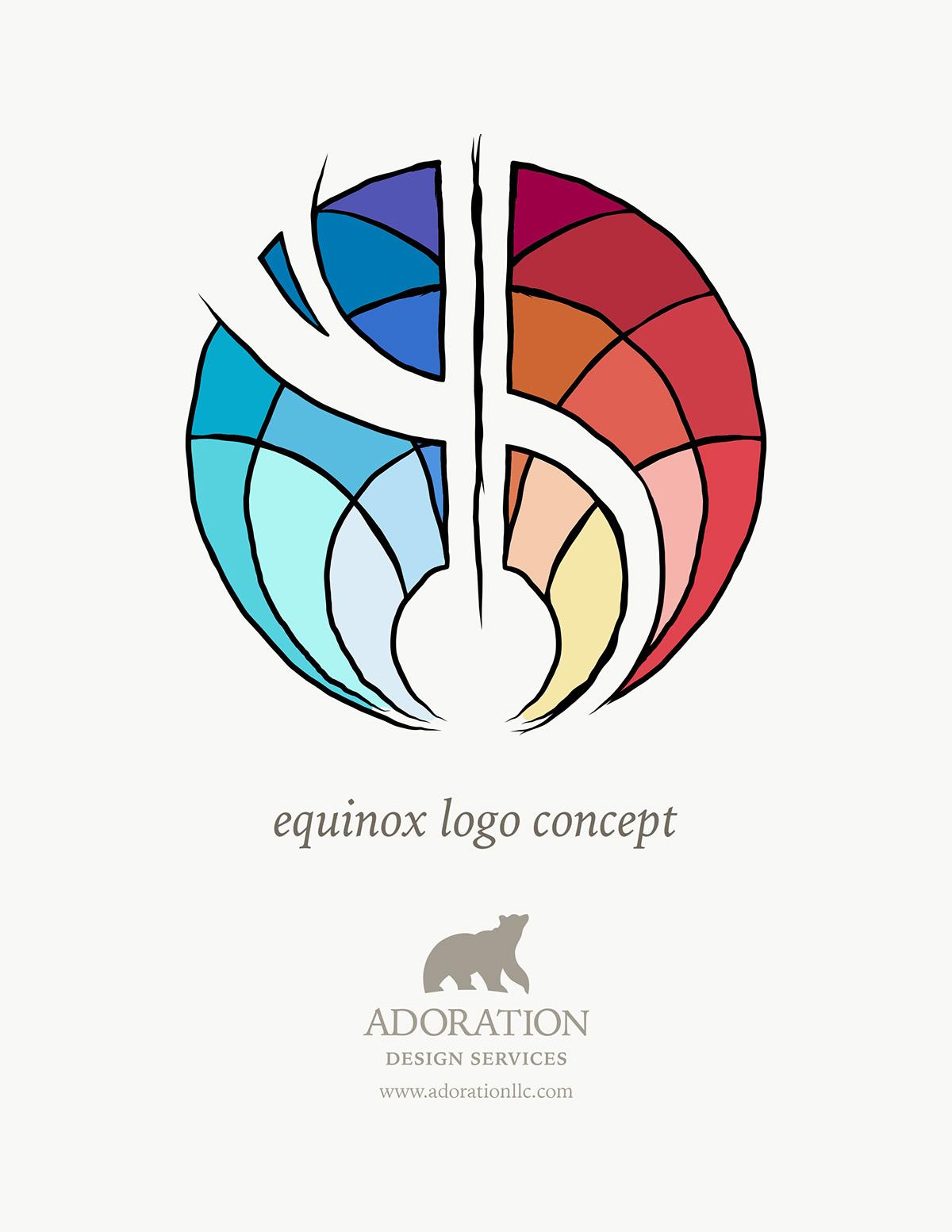 Equinox Healing Arts Rebrand on Behance