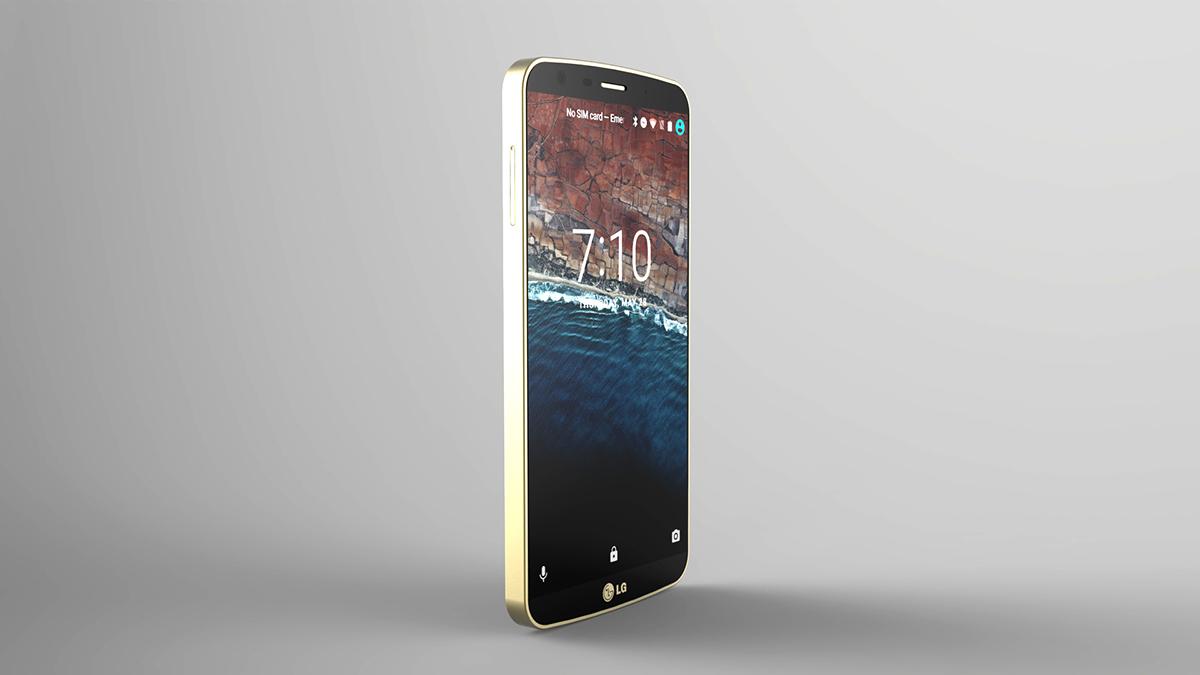 LG G5 lg g5 3D cell phone mobile Vuk Nemanja Zoraja CGI