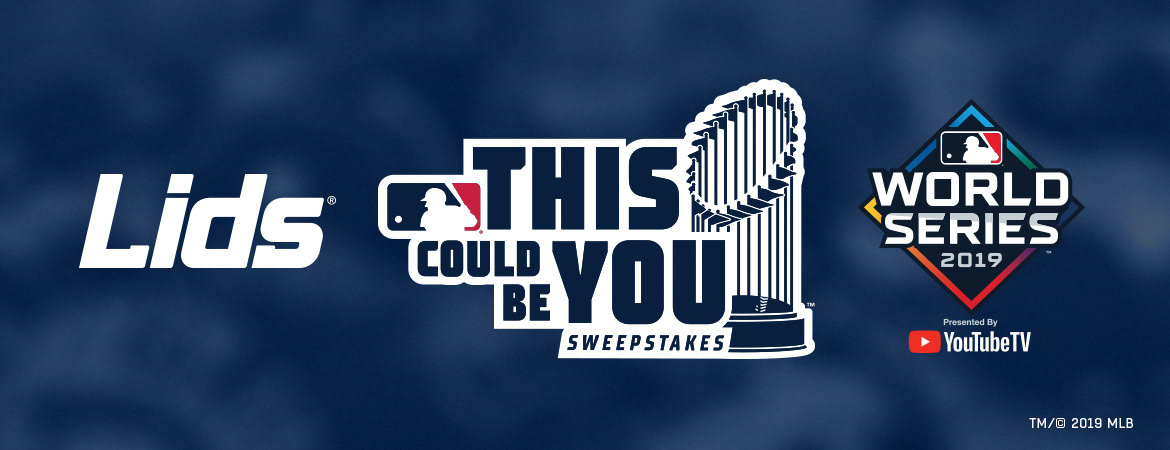 Mlb X Lids This Could Be You Sweepstakes Logo On Behance