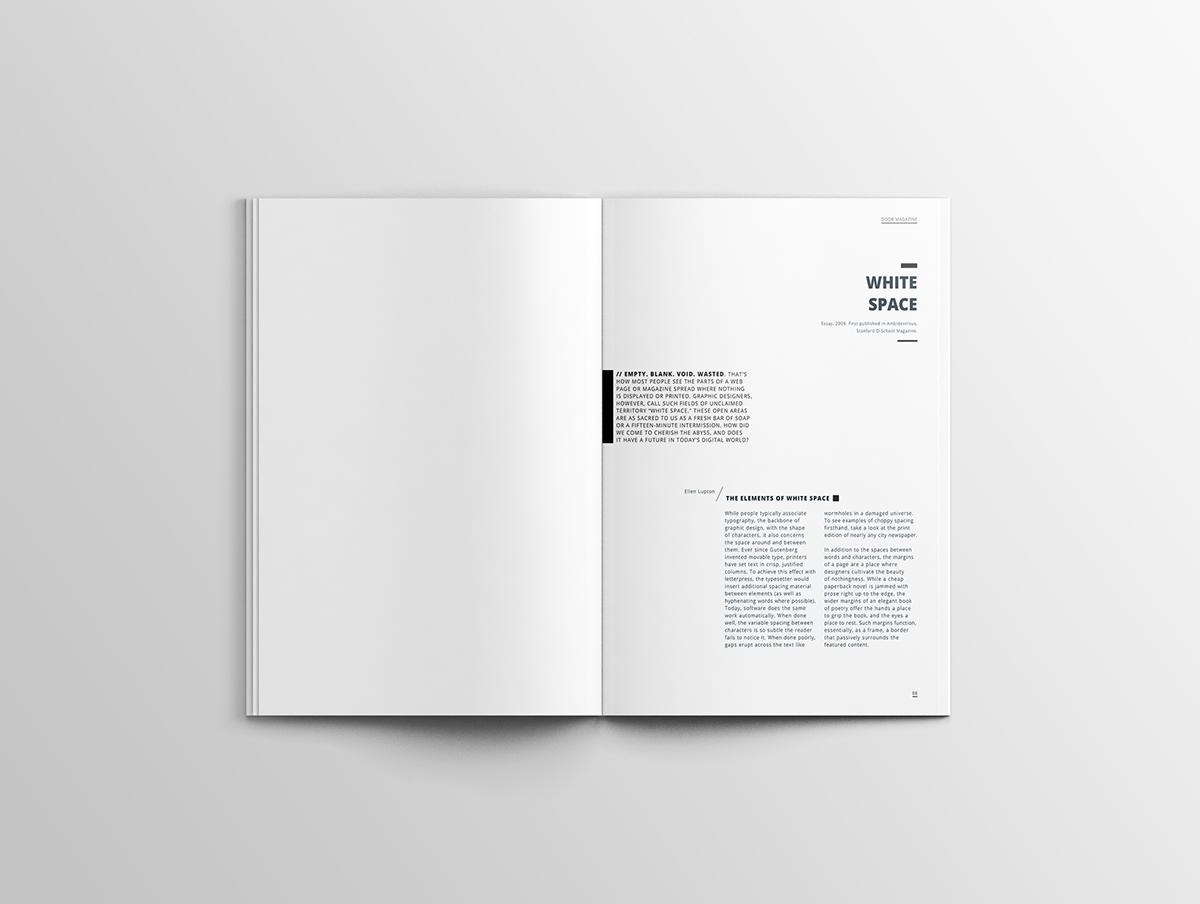 & Door Magazine - Print Design Layout Graphic Design on Behance