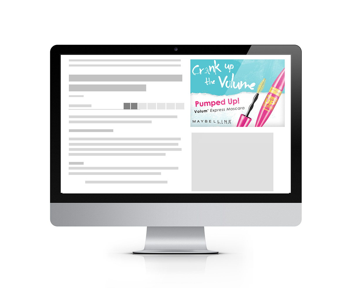mascara Maybelline Magazine Ad Web Banner Web
