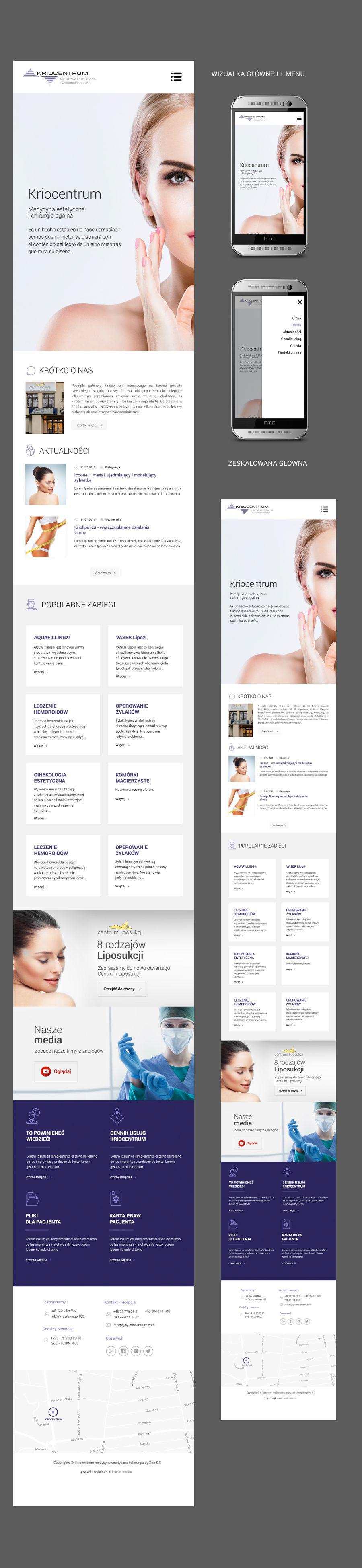 rwd Responsive Medical Clinic mobile website strona www strona internetowa mobilna strona www responsywana strona