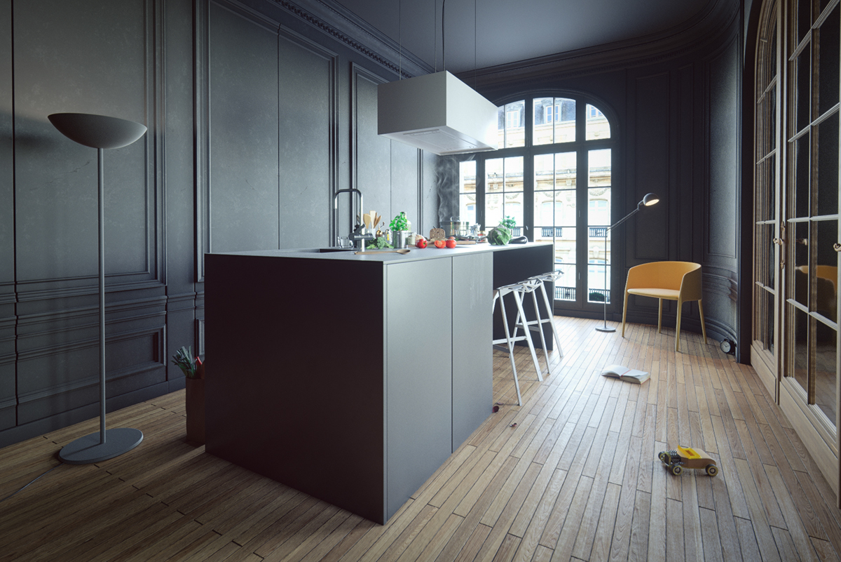 Invisible Black Kitchen on Behance