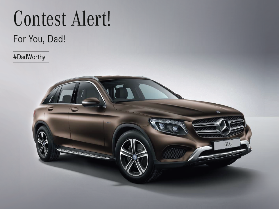 We Asked The Target Audience To Walk In To The Showroom And Click A Selfie  With The #DadWorthy Mercedes Benz And Tell Us Why Is It #DadWorthy.