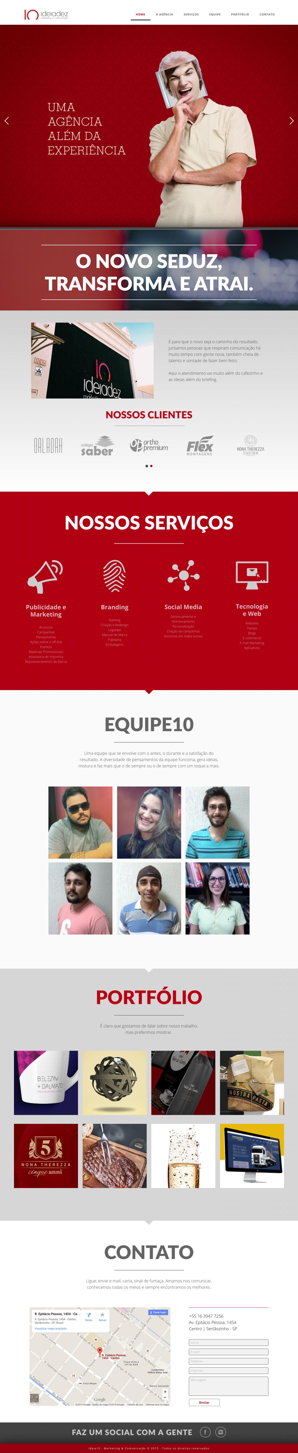 Website Ideia10 Layout agency agencia publicidade Propaganda marketing   portfolio Sertãozinho