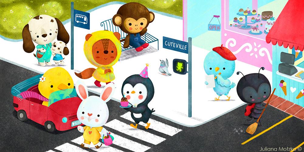 animals Character design  children's book city cute cute characters ILLUSTRATION  kids books picturebook scene
