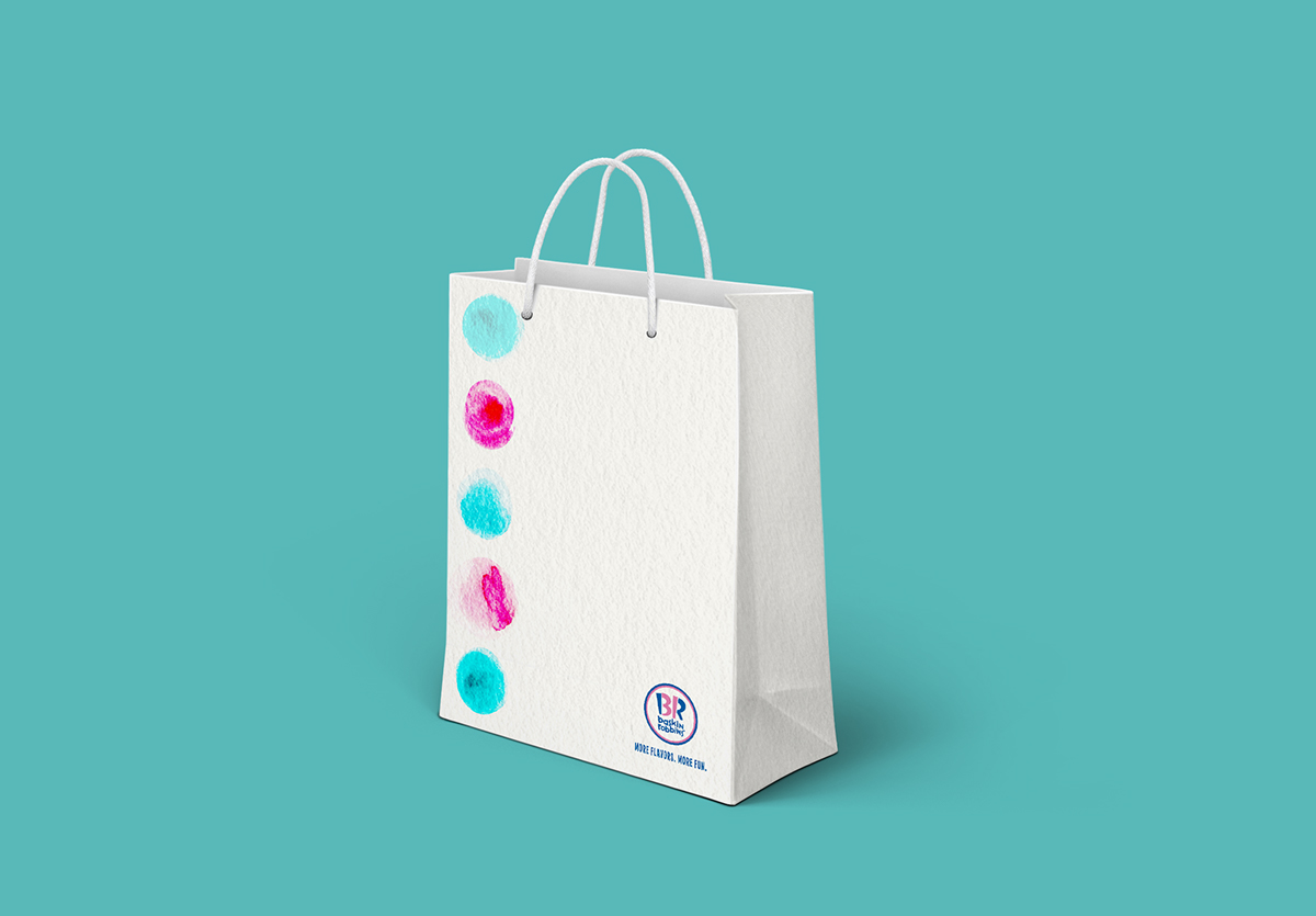 Baskin Robbins Paper Bag Design On Behance