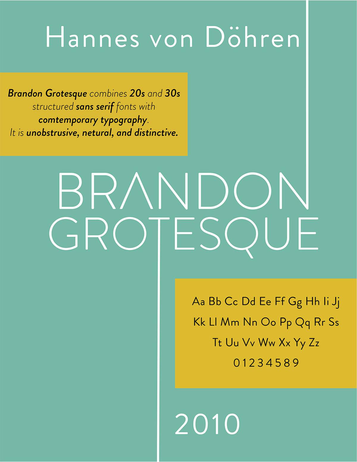Brandon Grotesque Type Specimen Sheet on Pantone Canvas Gallery