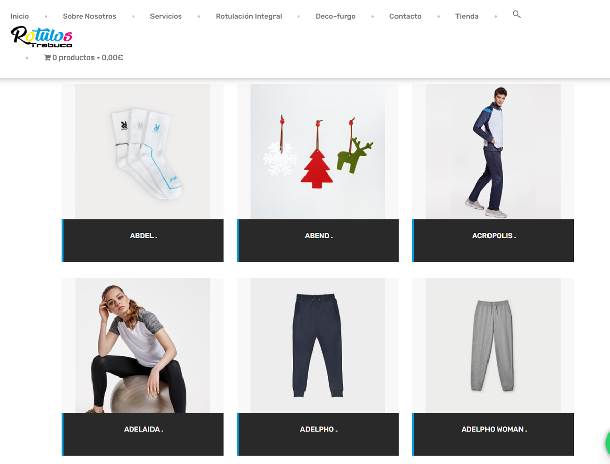 Onlineshop Tiendaonline variables Woocommerce wordpress