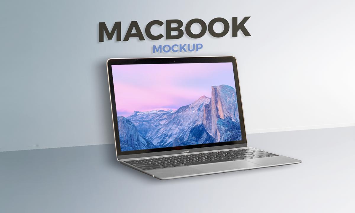 Mockup mock up mac macbook minimalistic simple clean design