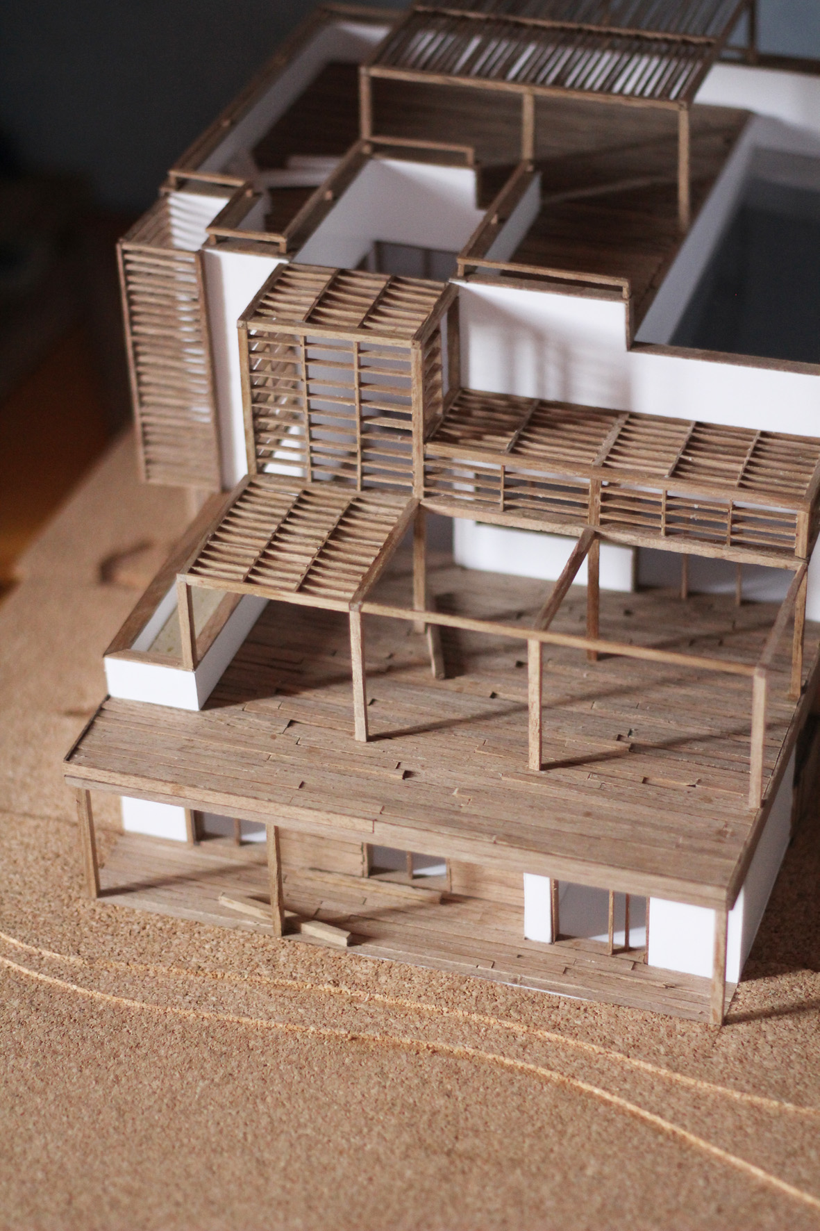 architecture wooden models architectural handmade maquette behance comptoirs les crock making wood building modeling concept thibaut malet scale board working