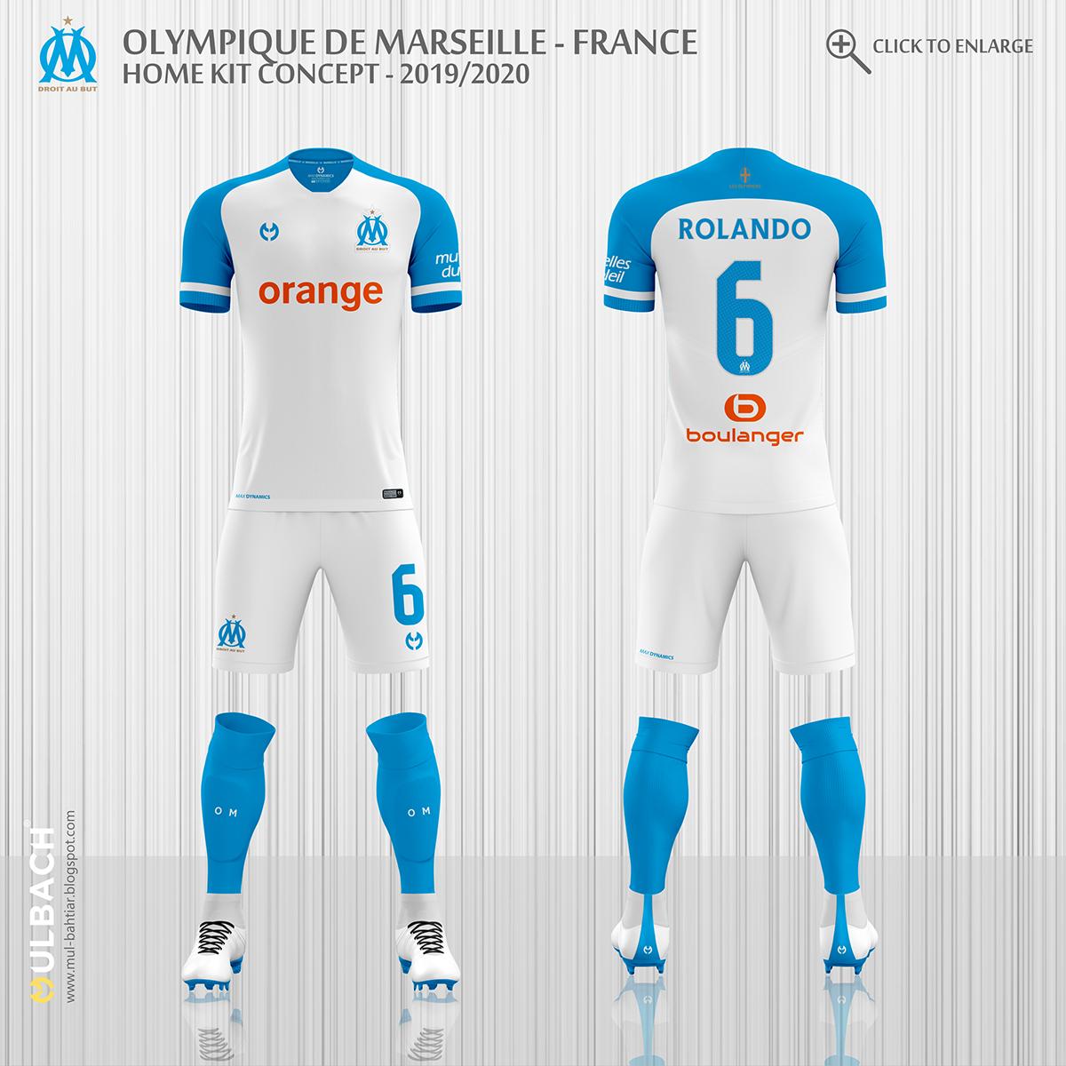 9fb57721b Olympique de Marseille 2019 2020 Kit Concept on Behance