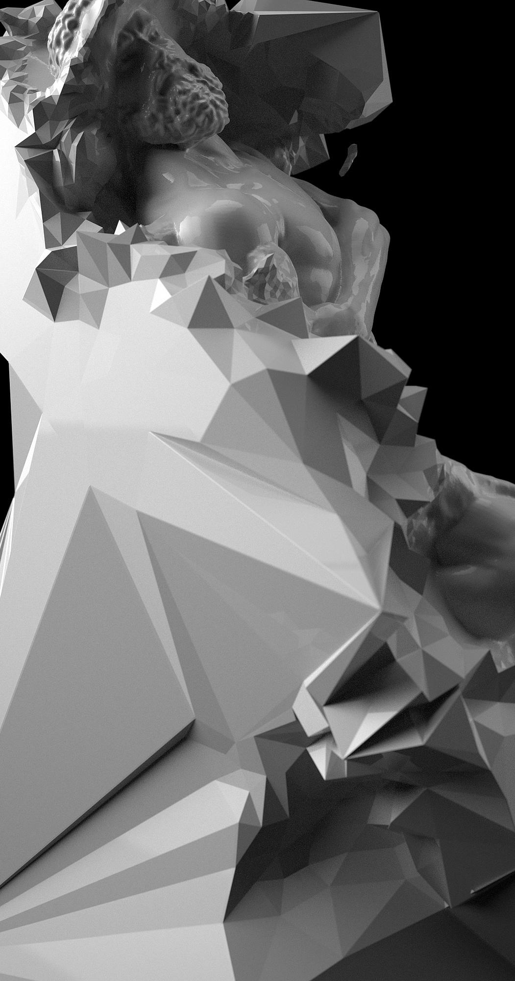 triangulation Quayola generative design pattern tesselation