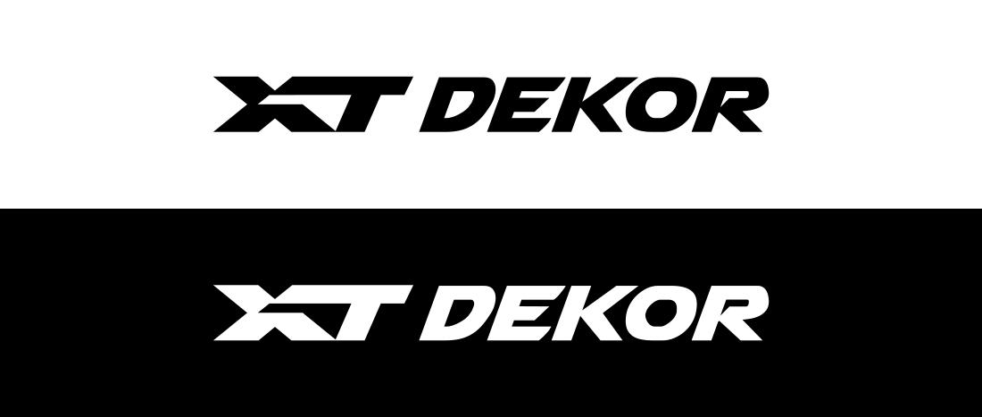 XT car foil decal etiquette logo monogram dekor