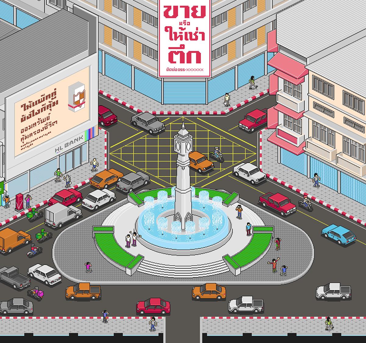 community digital identity Phitsanulok Pixel art Thailand