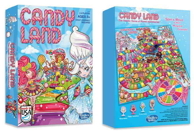 Candyland Game Board Design For Hasbro On Behance