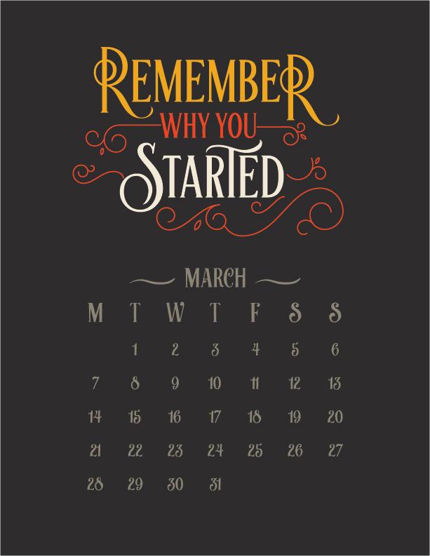 Calendar Inspirational 2016 : Inspirational quotes free calendar printable on behance