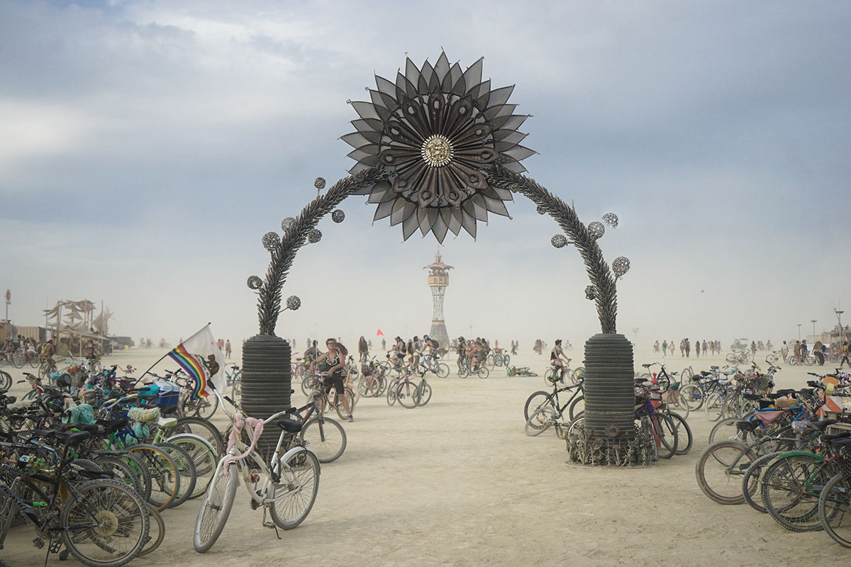 Burning Man burning man black rock city nevada festival fire dust
