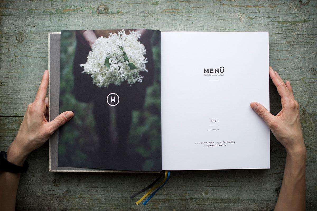 Adobe Portfolio menu cookbook Food  recipe budapest gastronomy hungary spring roll dumpling emboss Book Binding book offset print Kamilla Mihály Balazs Glodi