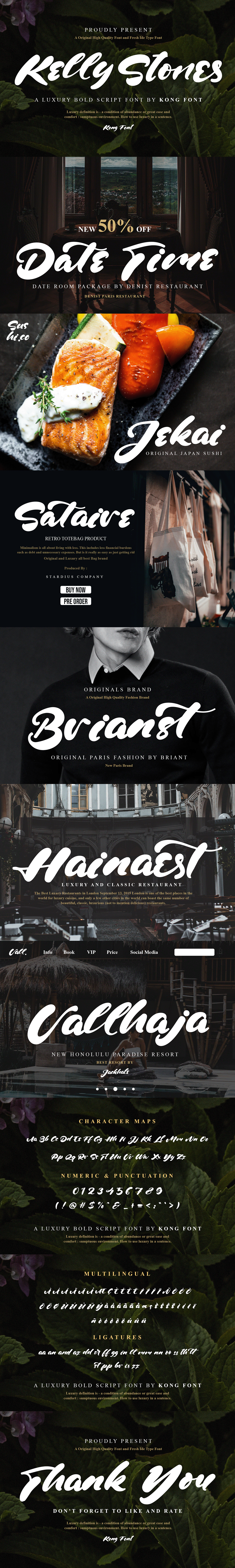 banner bold branding  Clothing font foodies kelly stones Logotype luxury Script