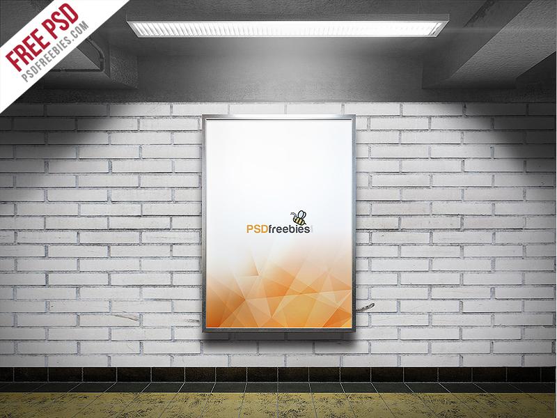 Freebie : Subway Advertising Billboard Mockup PSD on Behance