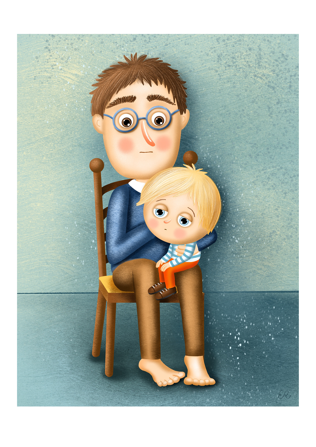 book boy children ILLUSTRATION  ilustrace kids kniha mother sad boy svíčka