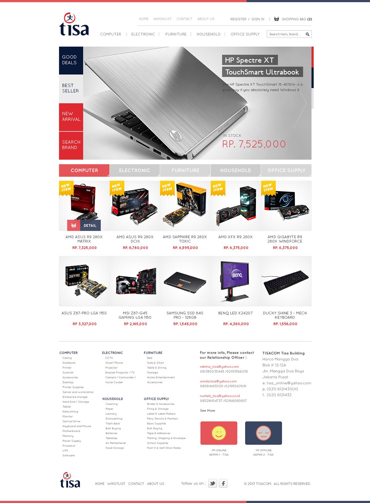 Collection Website design e-commerce Mockup clean modern moobile shop