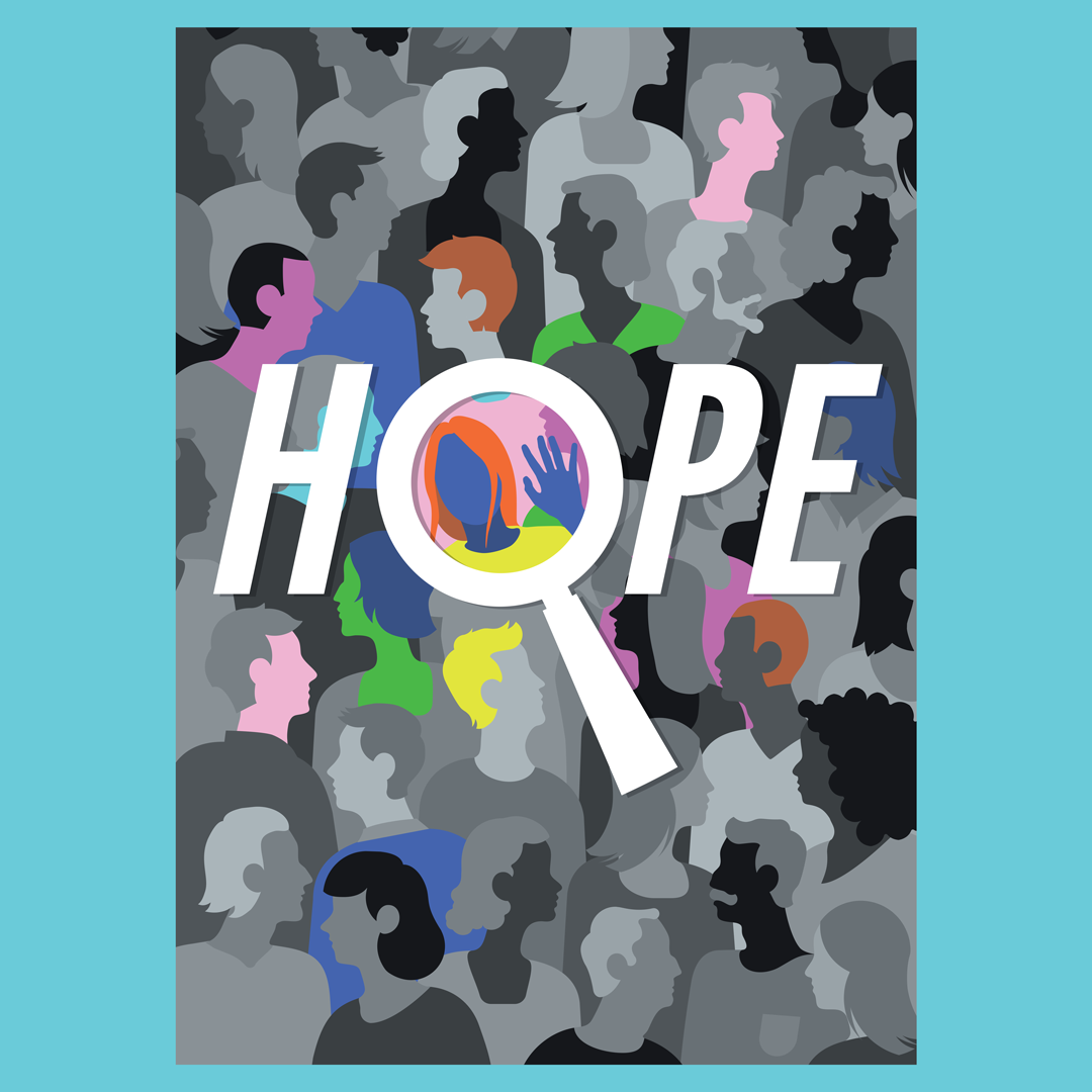 Colourful  crowd hope poster Poster Design typography   vector graphics